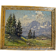 Marcel Belle listed French artist signed oil on board landscape painting