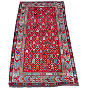 Rare antique Russian Caucasian Shirvan rug from early1900's