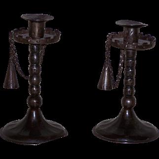 Early German Iron Candlesticks