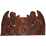Walnut Carved Angels