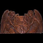 Walnut Carved Angels