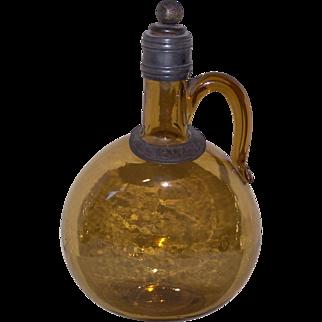 Hand Blown English Glass Gin Decanter