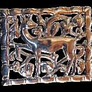 Vintage Sterling Silver Bond Boyd Stylized Deer brooch