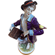 Antique Volkstedt Porcelain Hand Painted Figurine Stunning Detail and Colors
