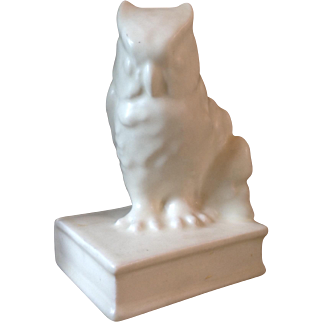Rookwood Art Pottery Owl Bookend Paperweight