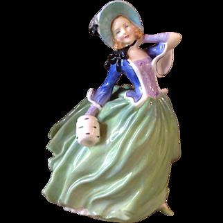 Vintage Royal Doulton Figurine Autumn Breezes Green Violet Perfect!