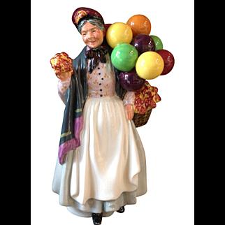 Vintage Royal Doulton Figurine Biddy Pennyfarthing Balloon Lady Figurine