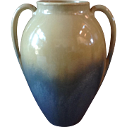 "Fulper Art Pottery Vase 9 1/2"" Yellow Over Blue Glaze"