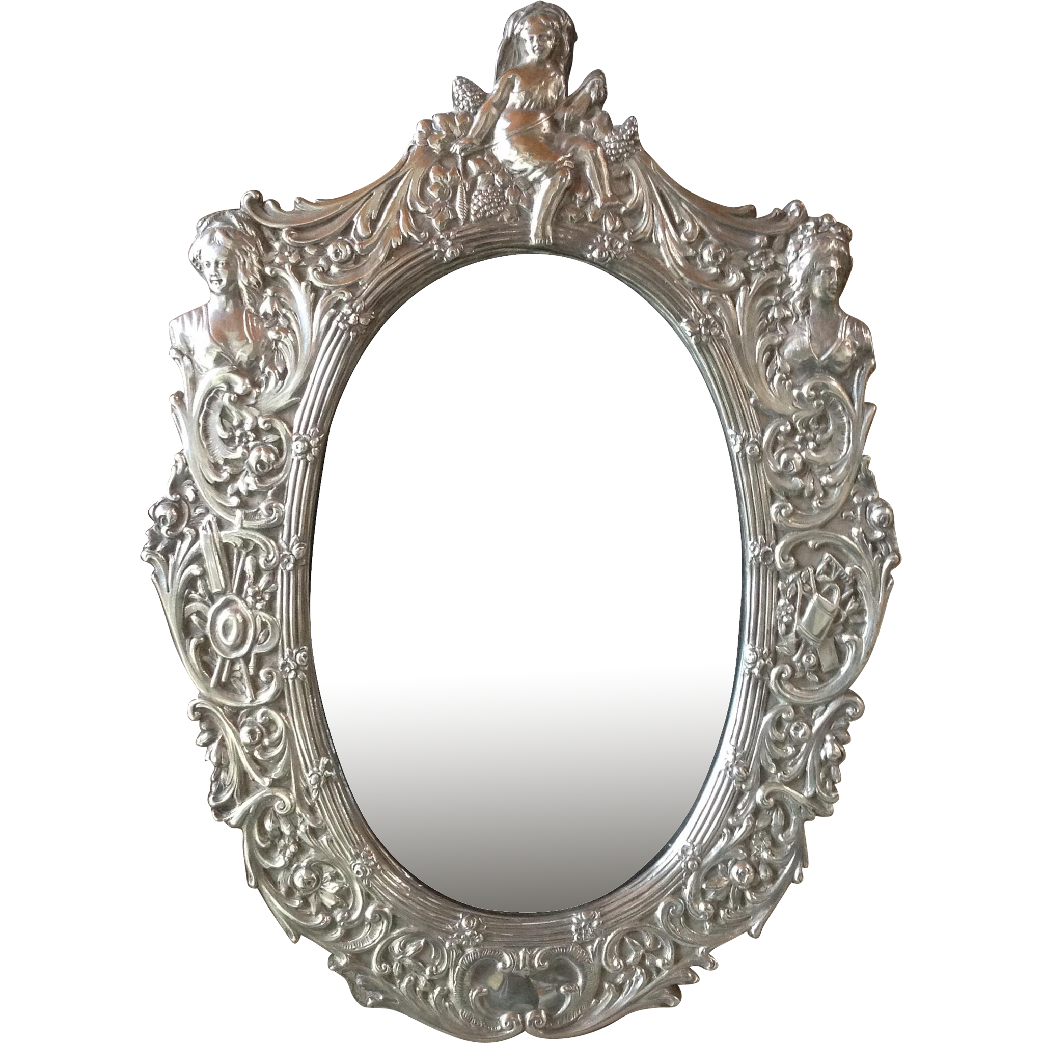 On sale ornate sterling silver picture photo mirror for Silver framed mirrors on sale