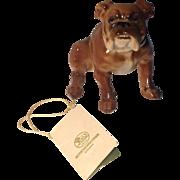 Fine Hutschenreuther Bulldog Figurine w/ Original Tags and Labels