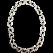 Vintage KJL Kenneth Jay Lane Sparkling Rhinestone Chain Necklace