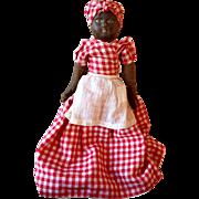 "13"" Antique Bruckner Topsy Turvy Black White Doll 1901"