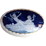 French Pate Sur Pate Tharaud Limoges Porcelain Jewelry Dresser Box