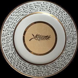 Cannes Festival Palme d'Or Plate.