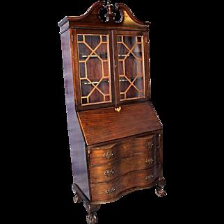 Vintage Maddox Table Mahogany Secretary Desk