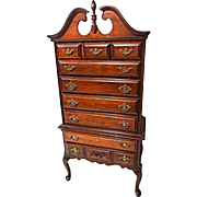 Henredon Mahogany Highboy Chest Dresser Cabinet Sideboard Cupboard Bed Vintage