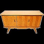 Modern Blond Wood Credenza Chest Cabinet Buffet Dresser Sideboard Mid Century