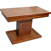 American Walnut Refractory Library Table Pedestal Console Side Center Dining