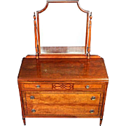 Rare Stiehl Furniture Art Deco Dresser Mirror Vanity Commode Chest Drawers Sofa