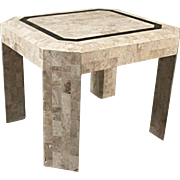 Maitland Smith Stone Clad Coffee Side End Table Mid Century Modern Neoclassical