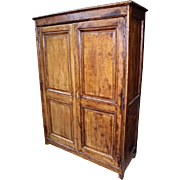18h C French Country Oak Armoire Wardrobe Cupboard Bookcase Cabinet Antique