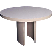 Mid Century Modern Round Formica Top Dining Table Side End Coffee Center Vintage