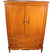 French Provincial Country Armoire Entertainment Center Wardrobe Chest of Drawers