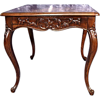 HENREDON French Provincial Carved End Side Lamp Coffee Table Dining Nightstand