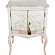 Custom Handpainted White Venetian Side Cabinet Nightstand End Table Chest (1/2)