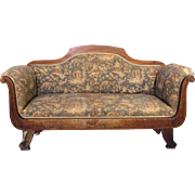 Rare Early Antique Victorian Chinoserie Loveseat Settee Sofa Bench Chaise Chair