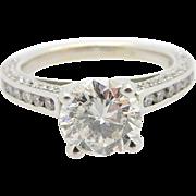 Artcarved 14K White Gold 2.20cttw G-SI2 Round Brilliant Diamond Engagement Ring