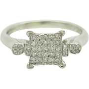 Solid 14K White Gold 0.25cttw H-I Round Brilliant Diamond Engagement Ring Sz 7