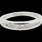 14K White Gold 0.50cttw G-H/VS Round Diamond Mens Wedding Band Ring Sz 10.25