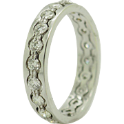 14K White Gold 1.00cttw F/VS Round Diamond Eternity Wedding Stackable Band Ring