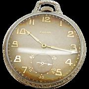 1923 LORD ELGIN 14K Yellow Gold 19j; Grade 451, Model: 4 Open Face Pocket Watch
