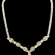 "Balestra 18K/750 Yellow Gold 0.35cttw F/VS Round Brilliant Diamond Necklace-18"""
