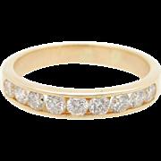 Mens Solid 14K Yellow Gold 1.00cttw G-SI Round Diamond Wedding Ring Sz 8.25