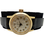 Womans Vintage WITTNAUER Model 6VS Hand-Winding 23mm Stainless Steel Gold-Plated Wrist Watch