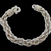 "9mm Interlocking Circles Bali 925 Sterling Silver Heavy Chain Bracelet-8"" (30gr)"