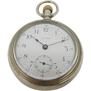 Antique WALTHAM Grade 81, 15J, 18s, Open Face Silverode Pocket Watch