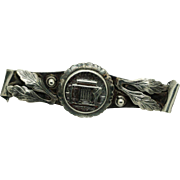 Vintage Sterling Silver/925 Retangular Tie Pin Brooch