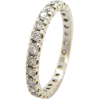 14K Yellow Gold 0.50cttw H-SI2 Round Diamond Eternity Wedding Band Ring Sz 5.75