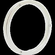 Solid Platinum/PT950 0.06cttw F-VS Diamond Thin Wedding Mens Ring Sz 9.75