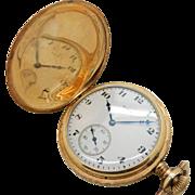 Vintage ELGIN 14K Yellow Gold Grade 314; 15j; 12s; Full Hunter Pocket Watch