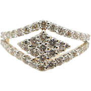Solid 18K Yellow Gold 0.50cttw H-VS Round Diamond Filigree Cocktail Ring Sz 6.25