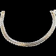"""Solid Vintage Sterling Silver/925 5mm Link Chain Bracelet-7"""" (8.4gr)"""