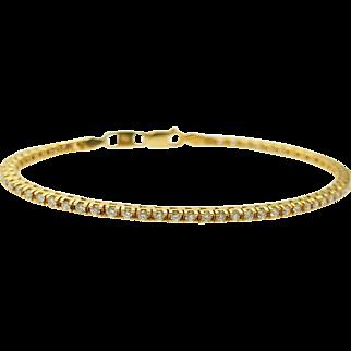 "Solid 14K Yellow Gold 1.75cttw F-VS Round Diamond Tennis Bracelet-8.5"""