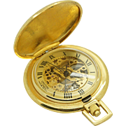 Vintage CROTON Swiss Made 17j, 5/0s Yellow Gold Plated Full Hunter Pocket Watch
