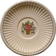 Wedgwood Etruria LARGE SAUCER Belmar Pattern Creamware Flower Basket US Patent 1917