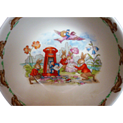 POSTMAN Mailbox Royal Doulton Bunnykins 1984 Porridge / Soup / Cereal Bowl